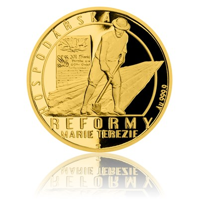 Mince vyobrazující hospodářsko reformu Marie Terezie