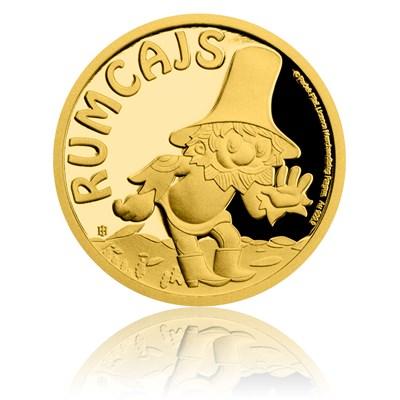 Reverzní strana pamětní mince Rumcajs.