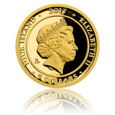 Averzní strana zlaté pamětní mince Rumcajs