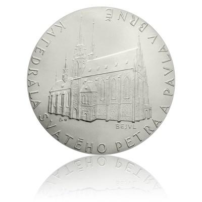Platinová medaile katedrála sv. Petra a Pavla v Brně