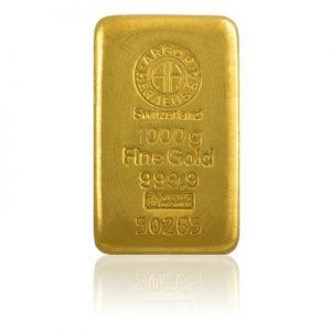 zlaté spoření - zlatá investiční cihla, slitek o váze 1 kg