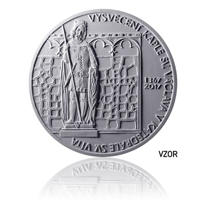 Stříbrná mince 200 Kč 2017 Vysvěcení kaple sv. Václava v katedrále sv. Víta proof