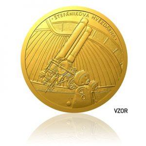 Zlatá půluncová medaile Založení České astronomické společnosti proof