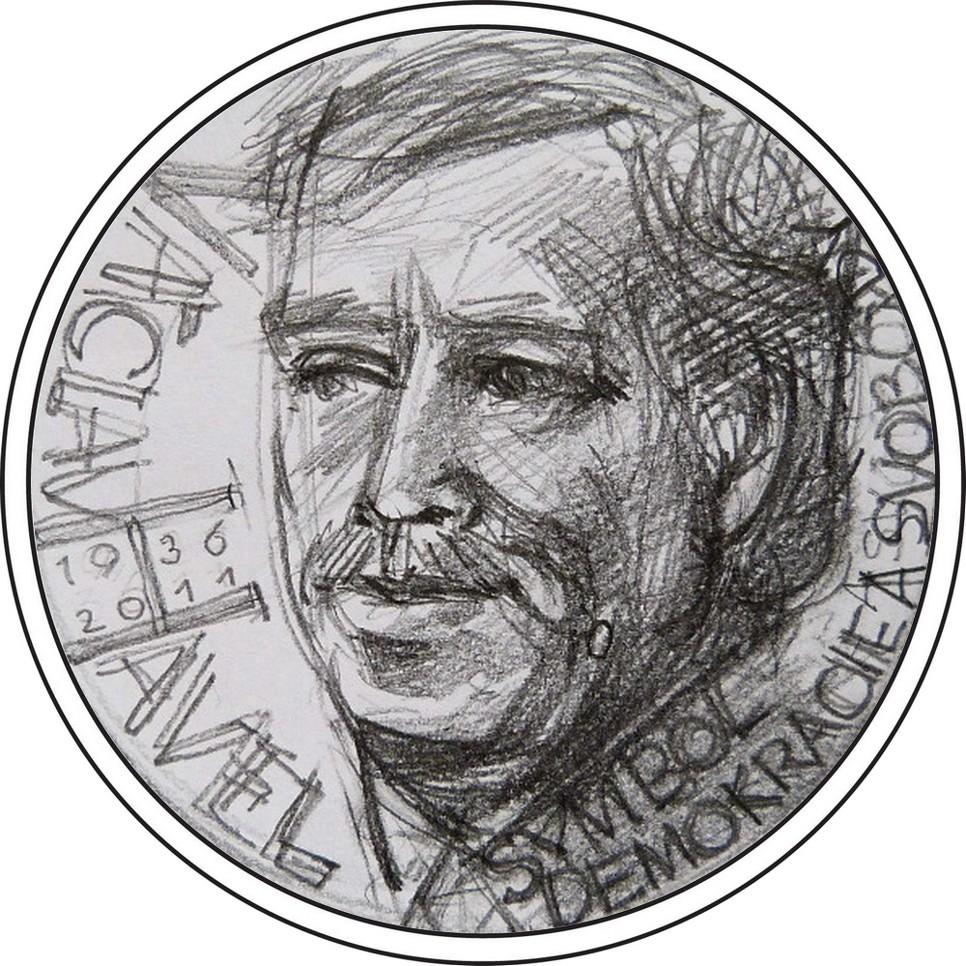 návrh mince Václav Havel česká mincovna