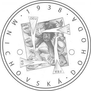 zlatá mince 1938 Mnichovská dohoda česká mincovna