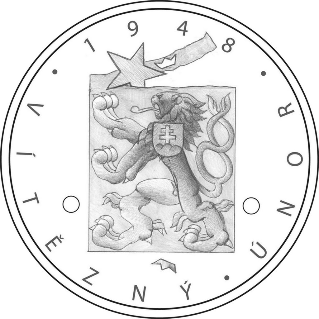návrh mince 1948 Vítězný únor česká mincovna