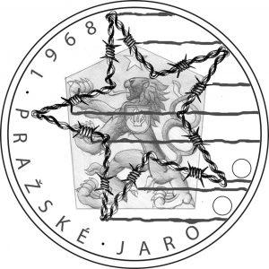 návrh zlaté mince 1968 Pražské jaro česká mincovna