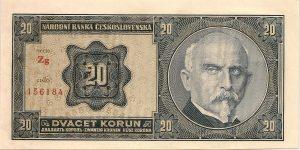 Alois Rašín na dvacetikorunové bankovce