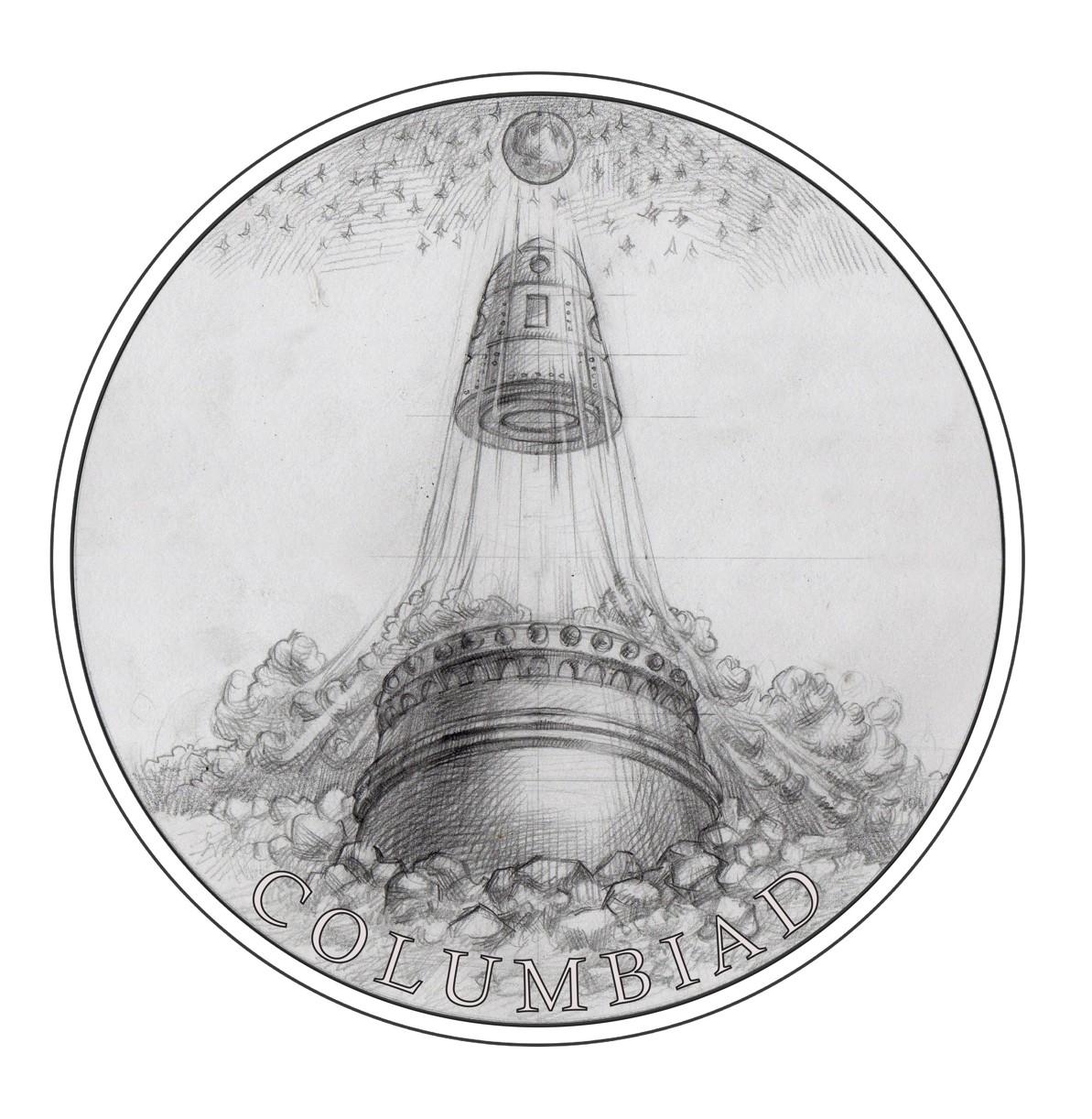 Stříbrná mince Fantastický svět Julese Verna - Měsíční dělo Kolumbiad proof