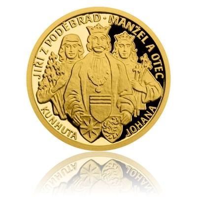 Zlatá mince Doba Jiřího z Poděbrad - Manžel a otec proof