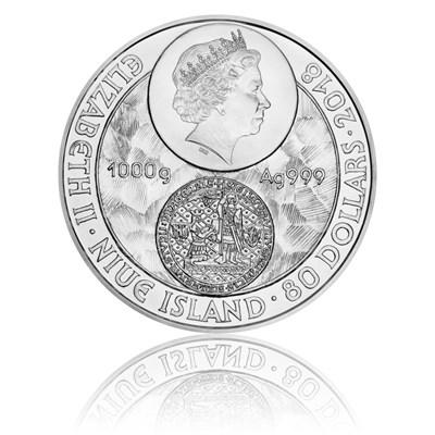 Stříbrná kilogramová mince Založení Univerzity Karlovy stand