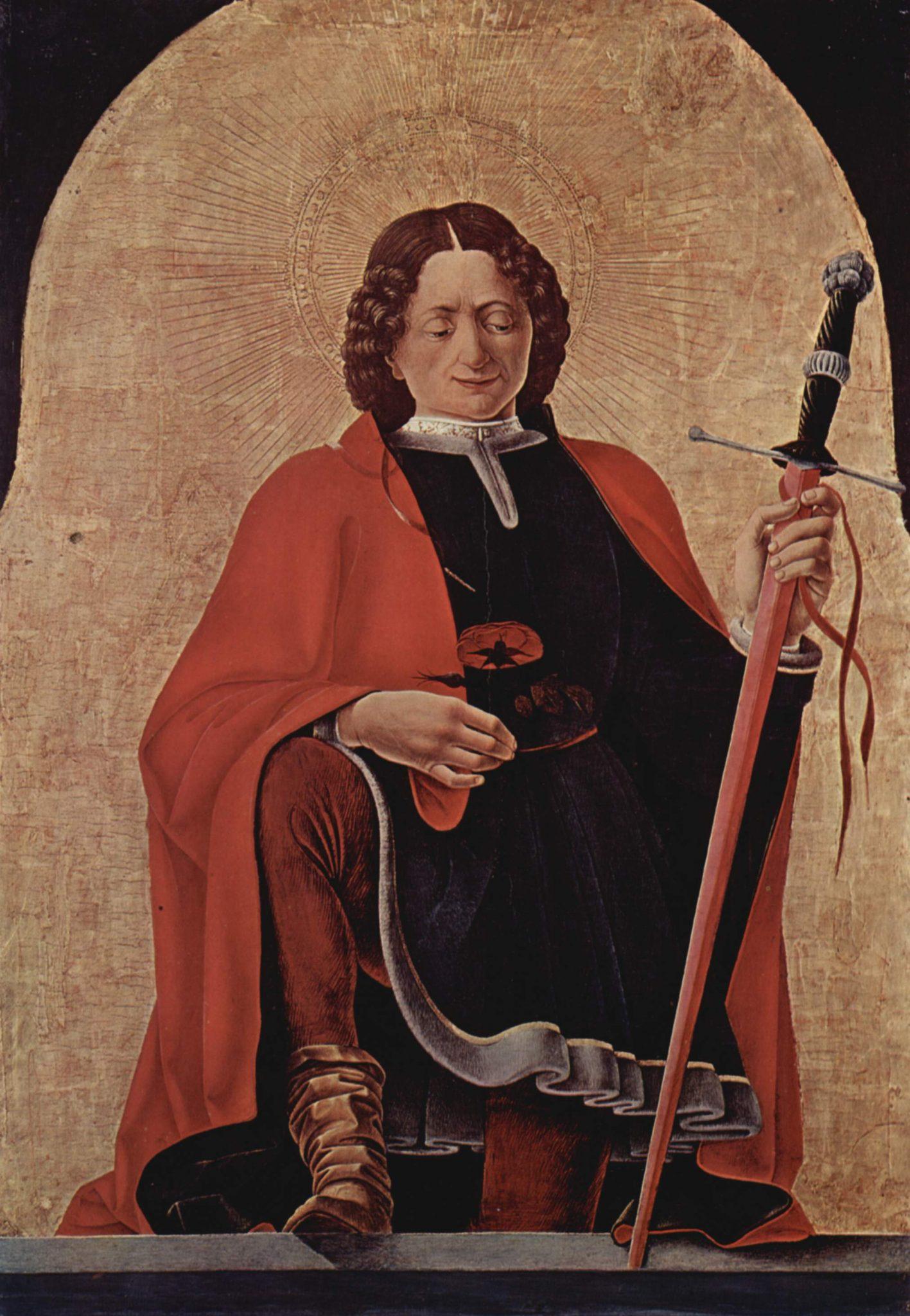 Podobizna svatého Floriána.