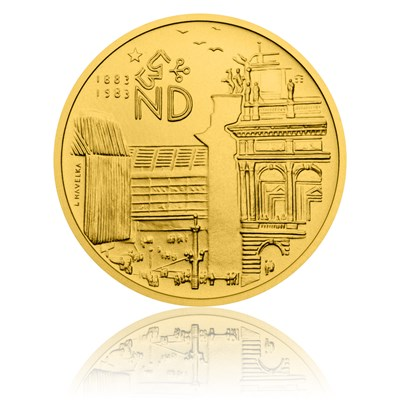 Averzní strana repliky medaile za zásluhy o rekonstrukci a dostavbu