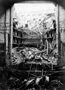 Interiéry Národního divadla po požáru