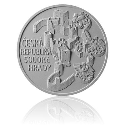 Reverzní strana zlaté mince Hrad Rábí