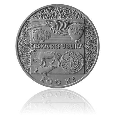 averzní strana stříbrné mince založení národního muzea