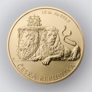 Zlatá uncová investiční mince Český lev