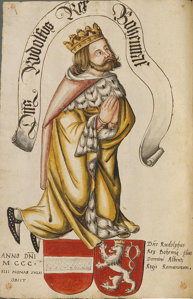Rudolf Habsburský - podoba ze 16. století