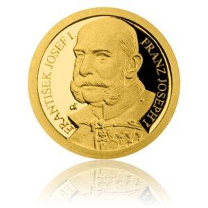 Zlatá mince František Josef I. proof