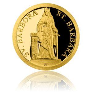 Averzní strana mince Svatá Barbora