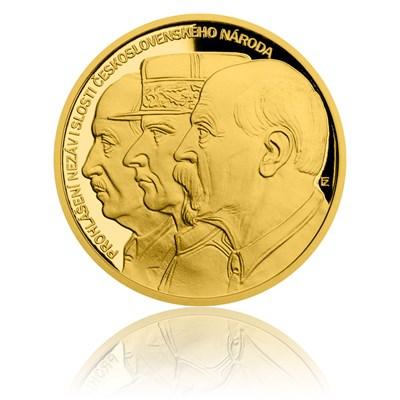 Zlatá půluncová medaile Přijetí Washingtonské deklarace proof