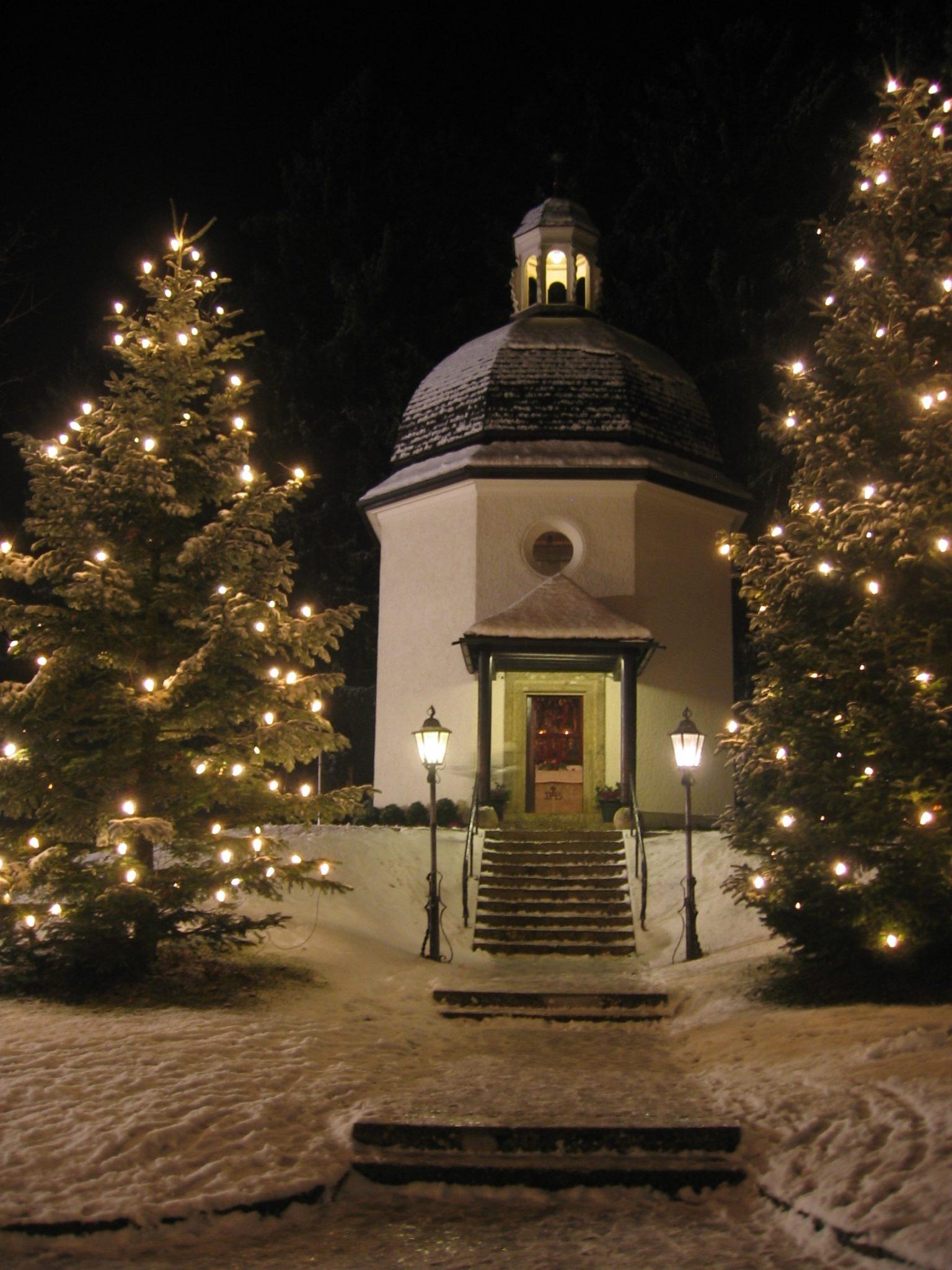 Kaple v Obendorfu, kde poprvé zazněla koleda Tichá noc