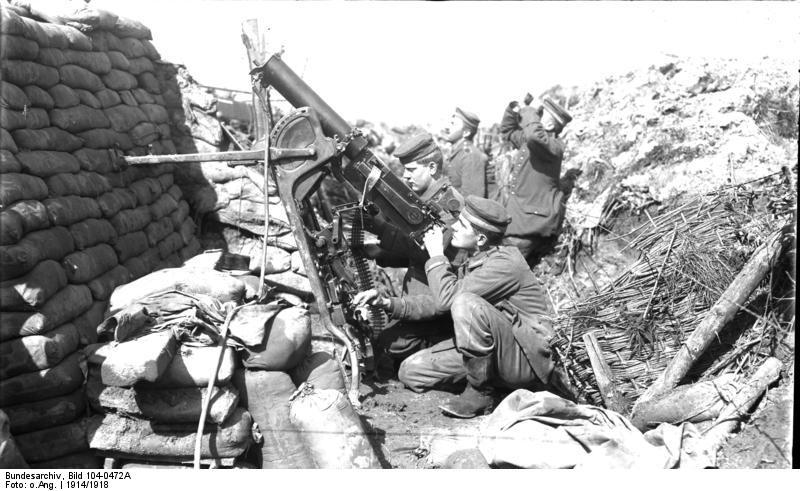 Němečtí vojáci v zákopech během 1. světové války