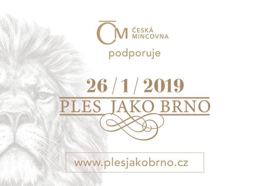 Česká mincovna je partnerem Plesu jako Brno