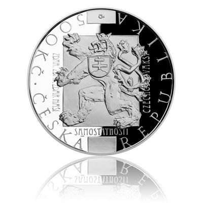 tříbrná mince 500 Kč 2018 Přijetí Washingtonské deklarace