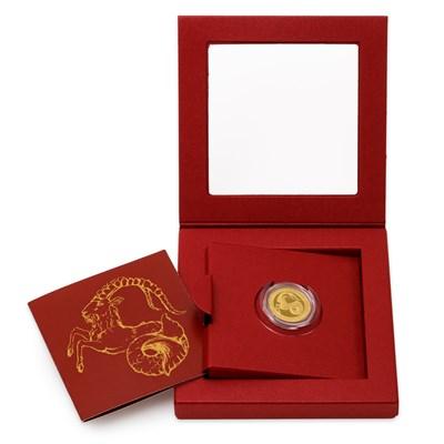 Zlatý dukát Znamení zvěrokruhu s věnováním