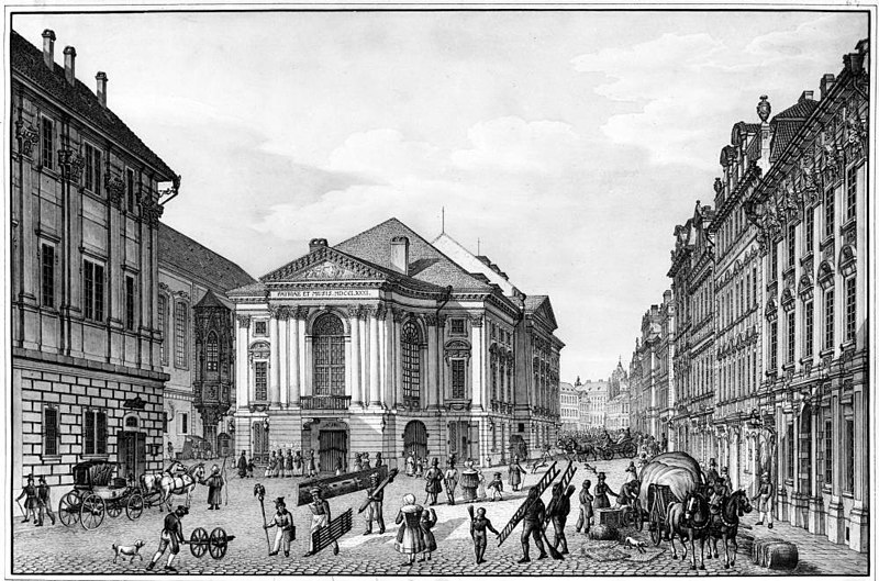 Původní vzhled Hraběcího Nosticova divadla