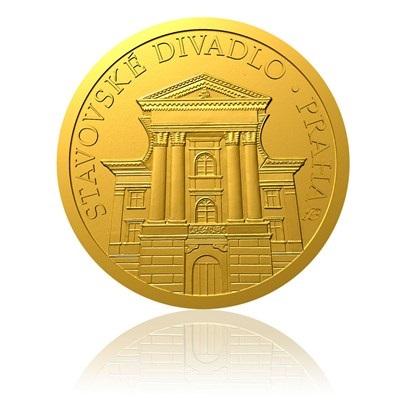 Zlatá mince Stavovské divadlo proof