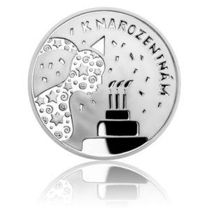 Stříbrná medaile K narozeninám oslava dort