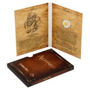Balení zlatých mincí Alchymisté ve formě alchymistického zápisníku