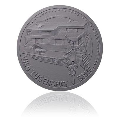 Platinová mince Vila Tugendhat ze série Památky UNESCO