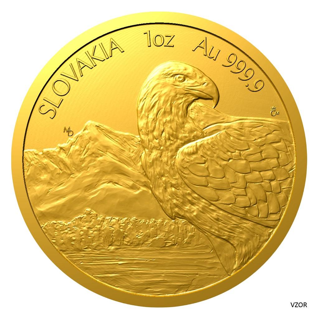 """Zlatá uncová mince """"Orel"""""""