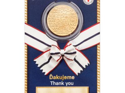 Medaile Ďakujeme nese portrét patronky ošetřovatelů